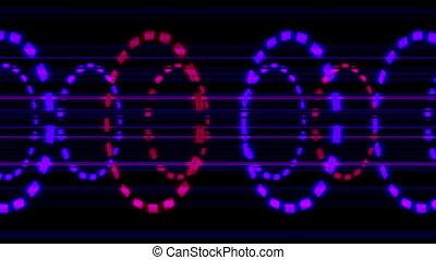 Circle of boxes six VJ loop - Animated circle of boxes VJ...
