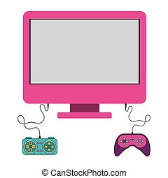 Isolated gamepad and computer design - Gamepad and computer...
