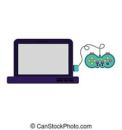 Isolated gamepad and laptop design - Gamepad and laptop...