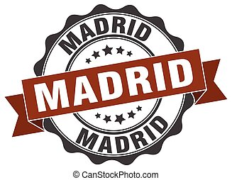 Madrid round ribbon seal