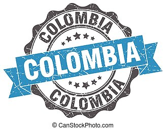 Colombia round ribbon seal