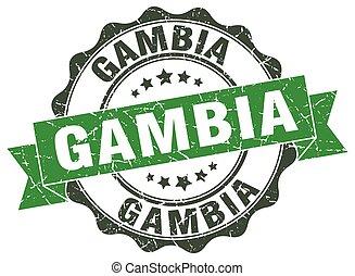 Gambia round ribbon seal
