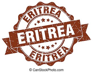 Eritrea round ribbon seal