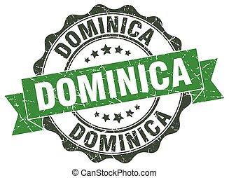 Dominica round ribbon seal