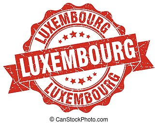 Luxembourg round ribbon seal