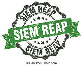 Siem Reap round ribbon seal