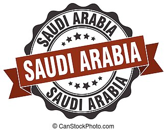 Saudi Arabia round ribbon seal