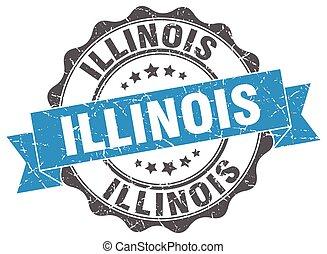 Illinois round ribbon seal