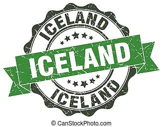 Iceland round ribbon seal