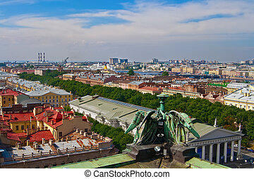 Panorama Of Saint-Petersburg - birds-eye view of the...