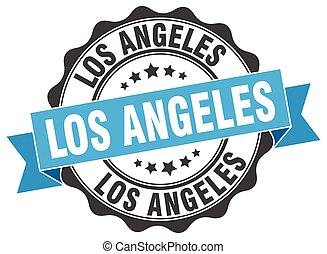 Los Angeles round ribbon seal