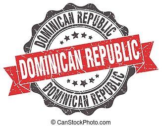 Dominican Republic round ribbon seal