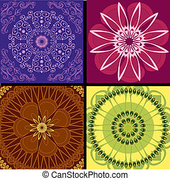 set pattern arabesque background