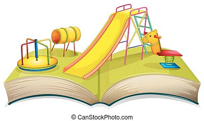 Book with playground scene