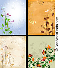 background patterned set - background grunge patterned set