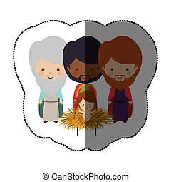 three wise men icon vector illustration graphic