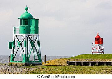 lighthouses, Stavoren, Friesland, Netherlands