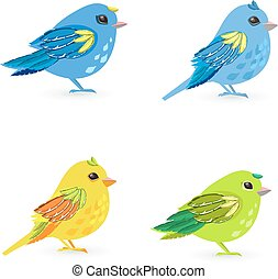 collection of lovely small birds for your design