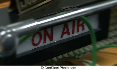"The board ""On air""  at radio station"