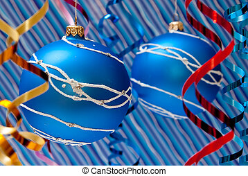Blue balls - Christmas decoration from two blue balls....