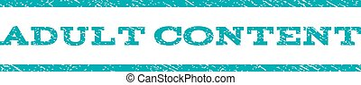 Adult Content Watermark Stamp