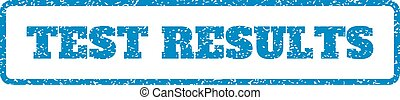 Test Results Rubber Stamp - Blue rubber seal stamp with Test...