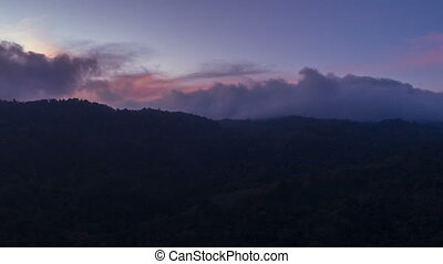 Beautiful timelapse of twilight in mountains in Thailand....