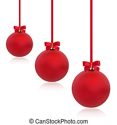 Christmas Red Bauble Beauty - Christmas baubles in red with...