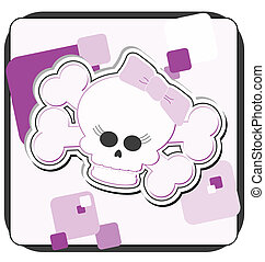 Girly Skull & Crossbones