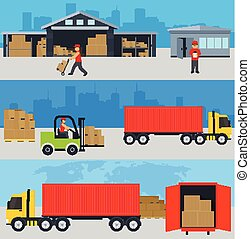 ?oncept of services in delivery of goods, loading and...