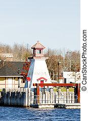 lighthouse on the Canadian border, Calais, Maine, USA