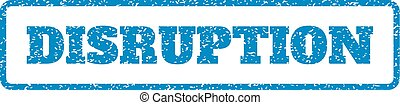 Disruption Rubber Stamp - Blue rubber seal stamp with...