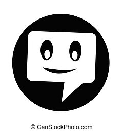 talking speech bubble icon