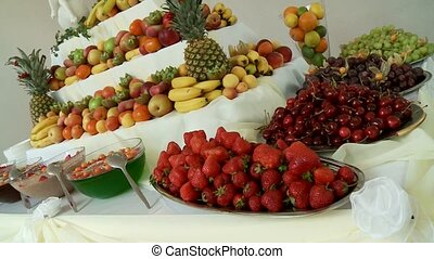 Fruits On Big Table