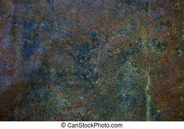 Rusted texture - A colored texture of rusted plate of metal