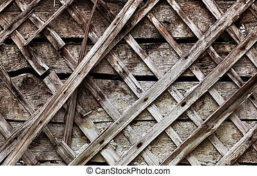 Old wooden wall close-up texture