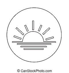 sunrise sunset  icon