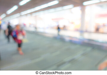 Abstract blur passenger in the airport . - Abstract blur...