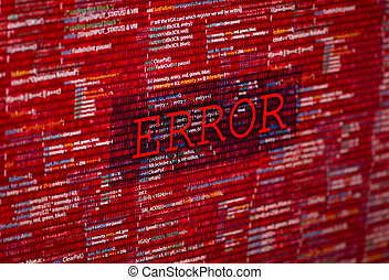 Error in program code listing, red crash on software...