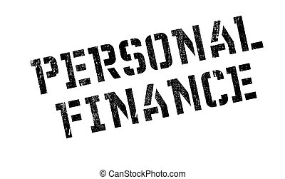 Personal Finance rubber stamp