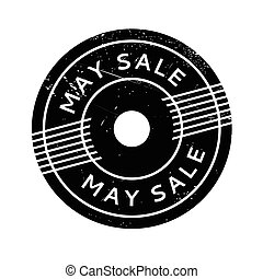 May Sale rubber stamp. Grunge design with dust scratches....