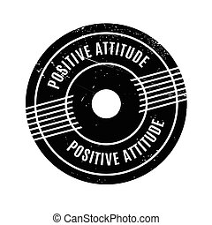 Positive Attitude rubber stamp. Grunge design with dust...