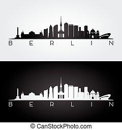 Berlin skyline silhouette.