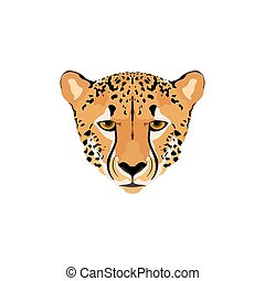 Illustration of a cheetah head. - Vector illustration of a...