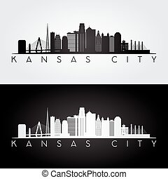 Kansas City skyline silhouette.