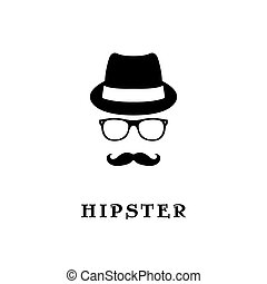 Fashion silhouette hipster.