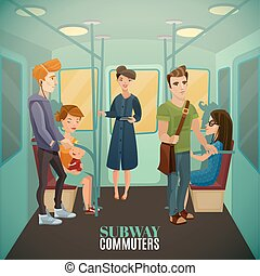 Subway Commuters Background - Subway commuters background...