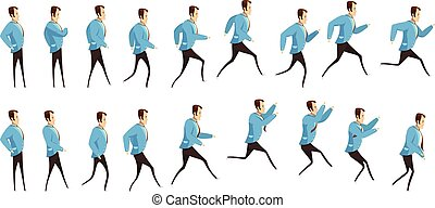 Running And Jumping Man Animation