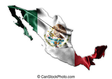 Mexican National Flag With Eagle Coat Of Arms and Mexican...