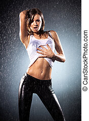 Young sexy woman Water studio photo